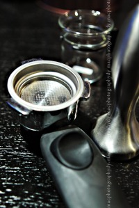The portafilter, the stainless tamper and espresso cup is for another story...