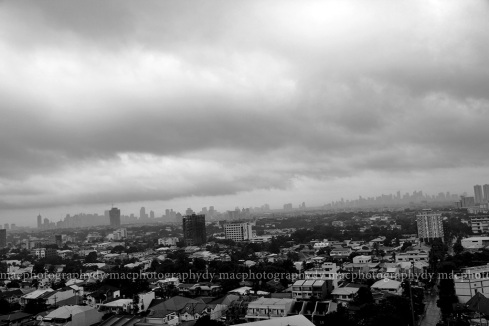 My view of typhoon Peping, 4:30pm.